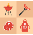 BBQ icons set vector image