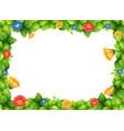 beautiful gerbera flower frame vector image vector image
