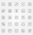 blog icons set vector image vector image