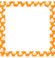 Border with Pumpkin vector image vector image