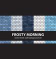 brick pattern set frosty morning seamless brick vector image vector image