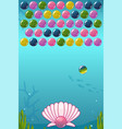 bubble shooter under the sea game vector image vector image