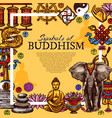 buddhism religion symbols poster vector image