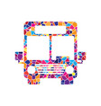 bus sign stained glass icon vector image