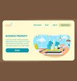 business property landing page template vector image vector image