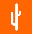 cactus white icon vector image vector image