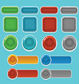 candy -game-button vector image vector image