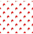 christmas santa claus hat pattern vector image