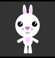 cute rabbit rabbit smiling gray vector image vector image