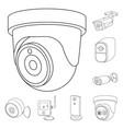design of cctv and camera symbol vector image