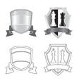 design of emblem and badge logo set of vector image