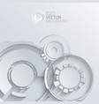 digital gears background vector image vector image