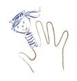 Drawn sailor vector image