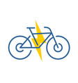 electric bike logo electricity driven bicycle vector image vector image