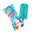 flavor pop ice cream with packaging design vector image vector image
