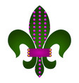 fleur de lys vector image vector image