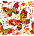 Floral seamless autumn pattern vector image