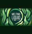 fluid liquid background futuristic design vector image vector image
