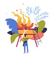food roasting and barbeque party of friends vector image vector image