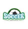 football soccer club logo badge template vector image vector image