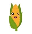 fresh corn kawaii style vector image vector image
