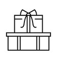 gift boxes line icon concept sign outline vector image vector image