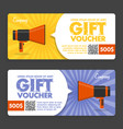 gift voucher flat design announcement vector image vector image