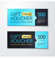 gift voucher template with clean modern premium vector image vector image