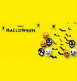happy halloween message design background eps 10 vector image vector image