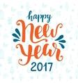 Happy New Year 2017 hand drawn greeting card vector image vector image