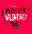 happy valentines day lettering text vector image