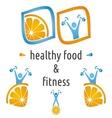Health and food symbols vector image