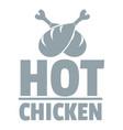 hot chicken logo simple gray style vector image vector image