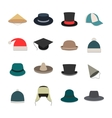 Icons hats vector image vector image