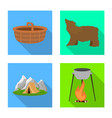 isolated object tourism and excursions icon vector image