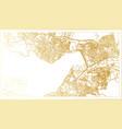 izmir turkey city map in retro style in golden vector image
