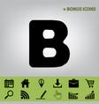 letter b sign design template element vector image vector image