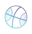line ball object to play basketball vector image vector image