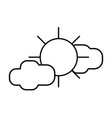 line sun with clouds to natural weather vector image vector image