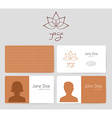 Logo and business cards for yoga studio vector image