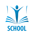 logo education people in the book vector image vector image