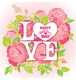 love rose 380 vector image vector image