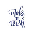 make a wish - hand lettering inscription text to vector image vector image
