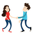 man and woman shake hands vector image vector image