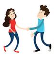 man and woman shake hands vector image