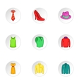 Material icons set cartoon style vector image vector image