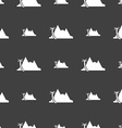 Mirage icon sign Seamless pattern on a gray vector image