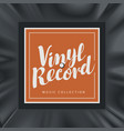 music banner with square label for vinyl record vector image