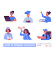 people different professions a set vector image