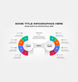 pie chart of percentage infographics element of vector image vector image